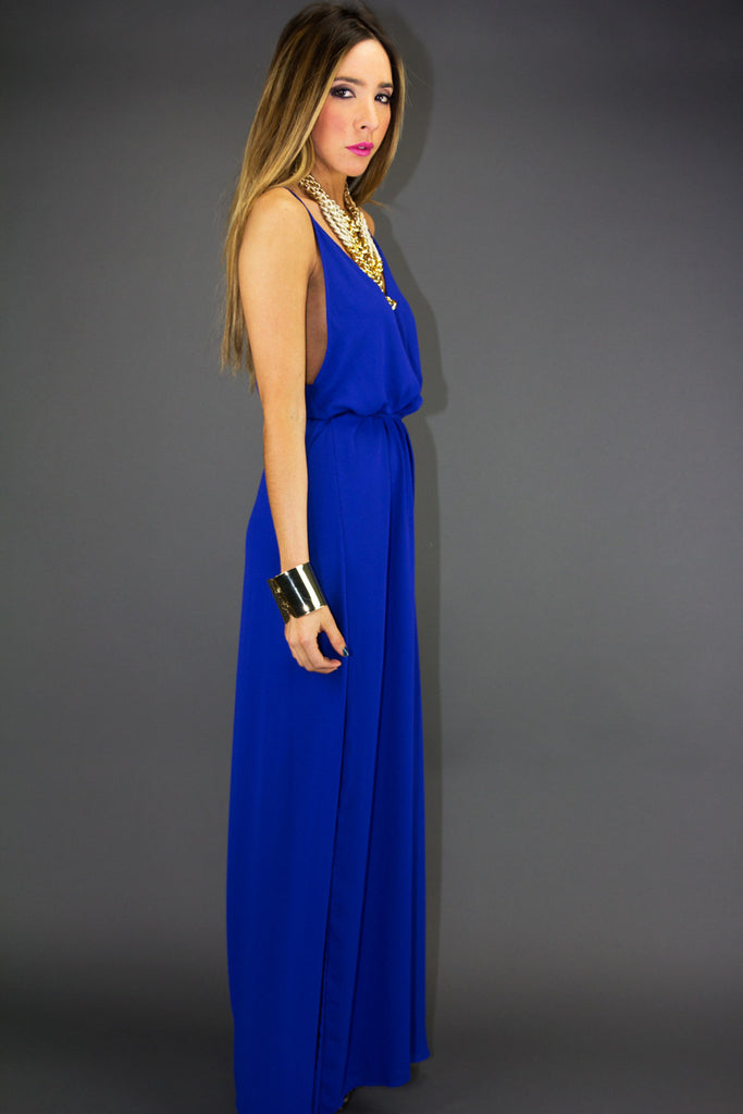 SONIA LONG DRESS - Blue