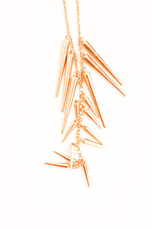 SPIKE NECKLACE- LONG - Haute & Rebellious