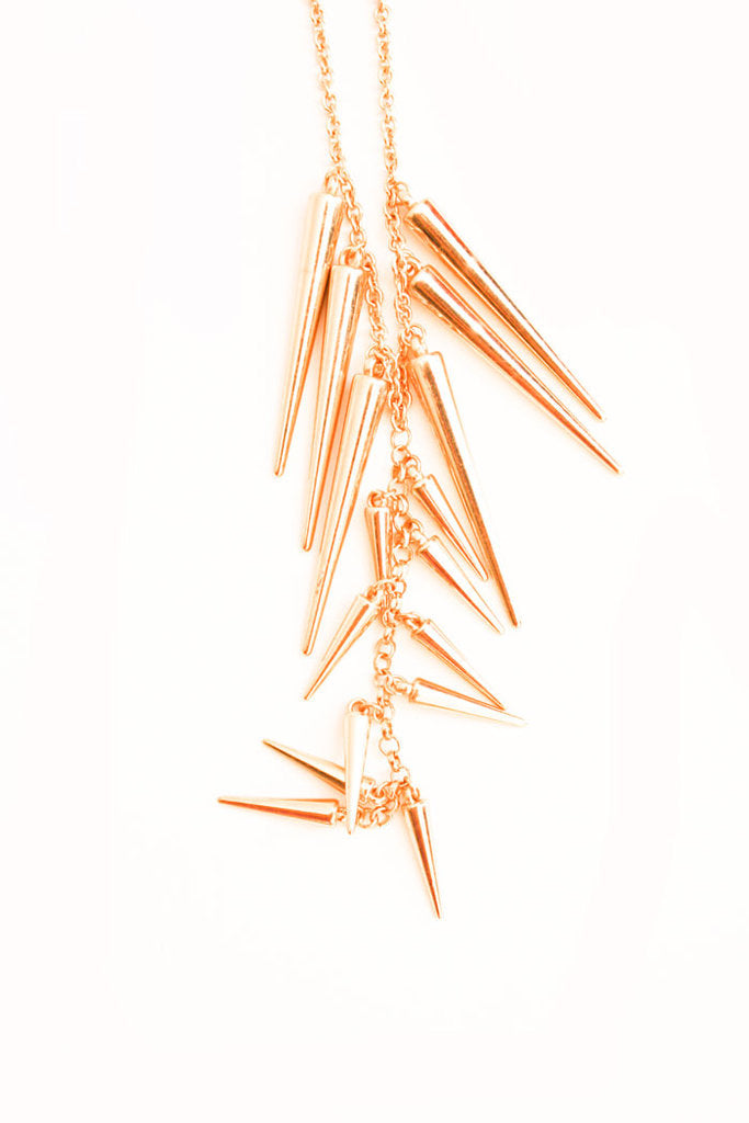 Haute & Rebellious SPIKE NECKLACE- LONG in [option2]