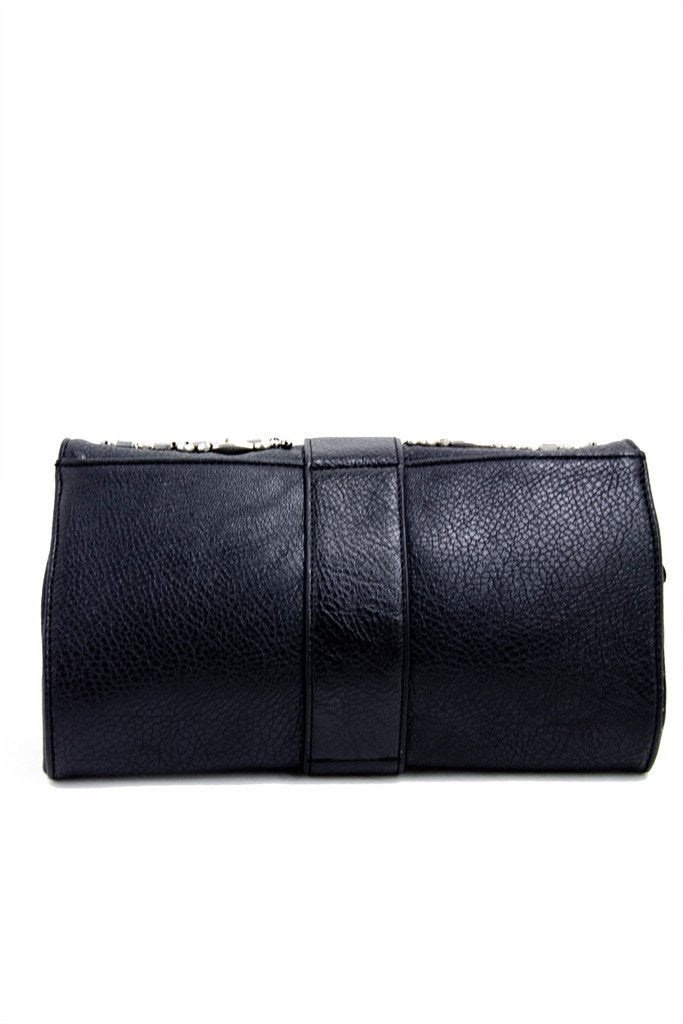 CRYSTAL CLUTCH - Black