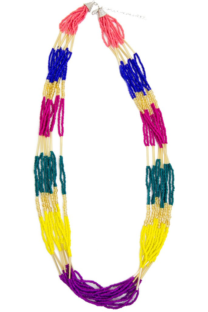 MULTICOLOR BEADS NECKLACE - Haute & Rebellious