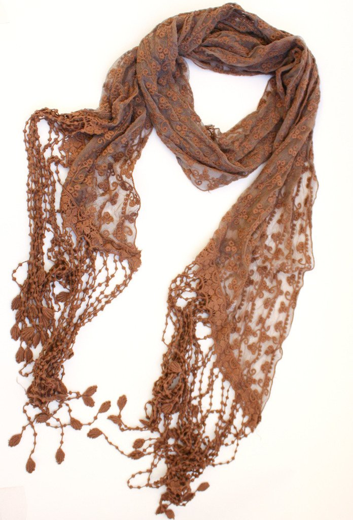 Haute & Rebellious LACE & CROCHET SCARF in [option2]