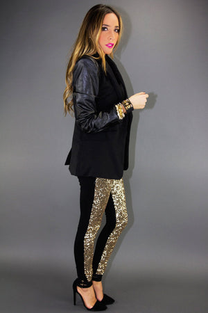 GOLD SEQUIN PANTS - Haute & Rebellious