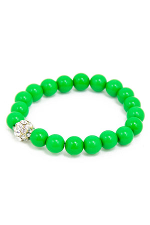 PETITE CIRCLE BRACELET - Electric Green (Final Sale) - Haute & Rebellious