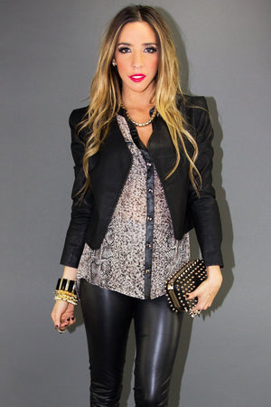 CROPPED LEATHER JACKET - Haute & Rebellious