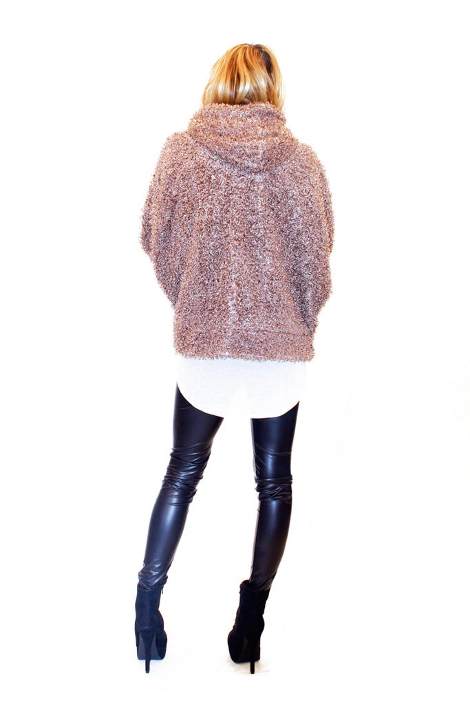 TERRY FUR JACKET - Light Brown - Haute & Rebellious