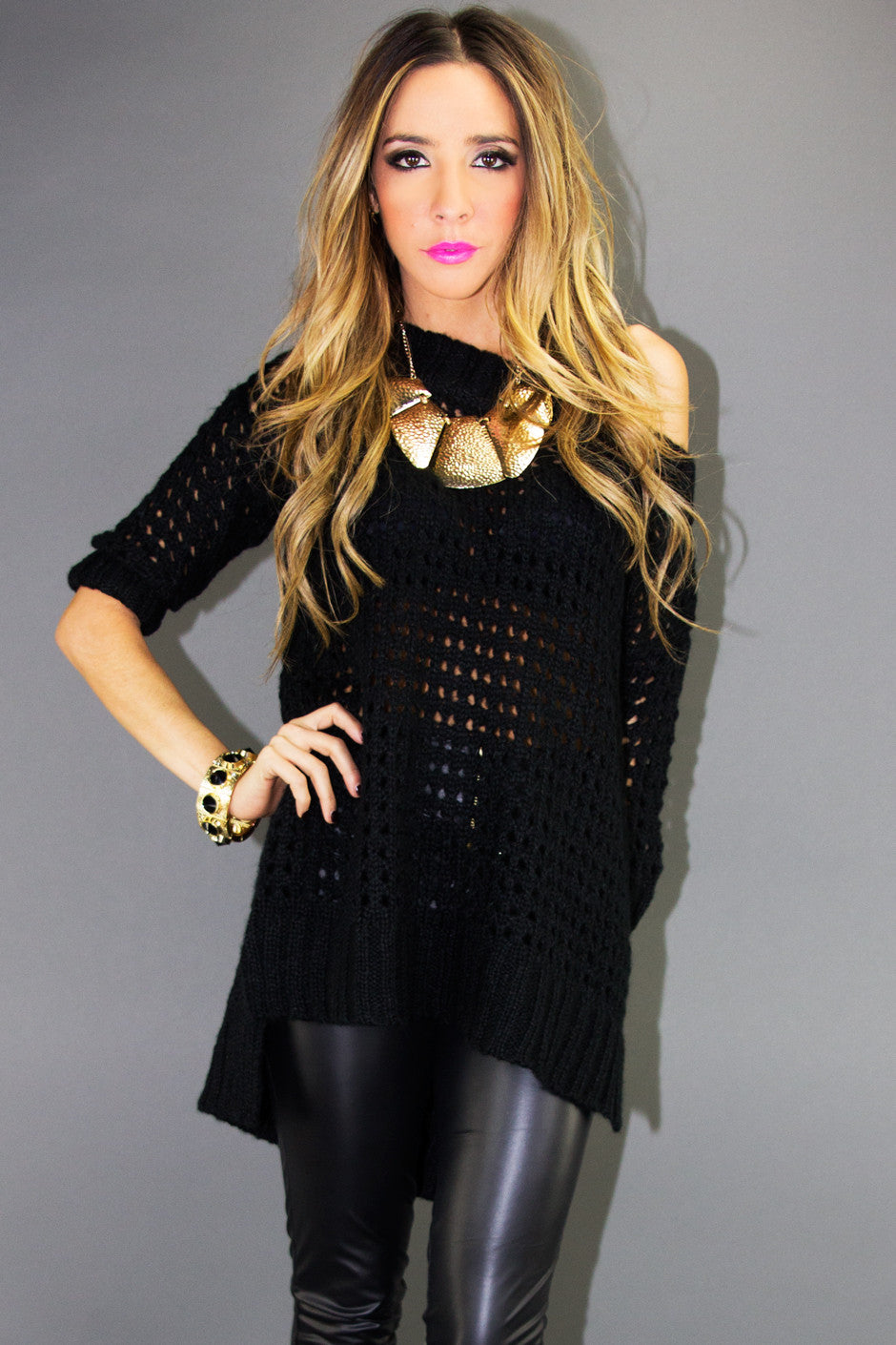OVERSIZED SWEATER - Black - Haute & Rebellious