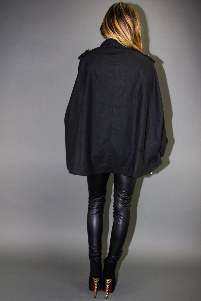 CAMILA WOOL CAPE COAT