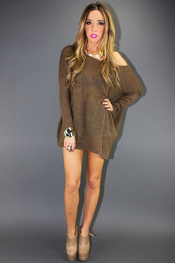 ALEXANDER OVERSIZE SWEATER - Taupe