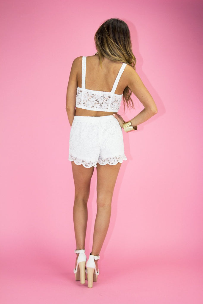 LACE BANDEAU - White
