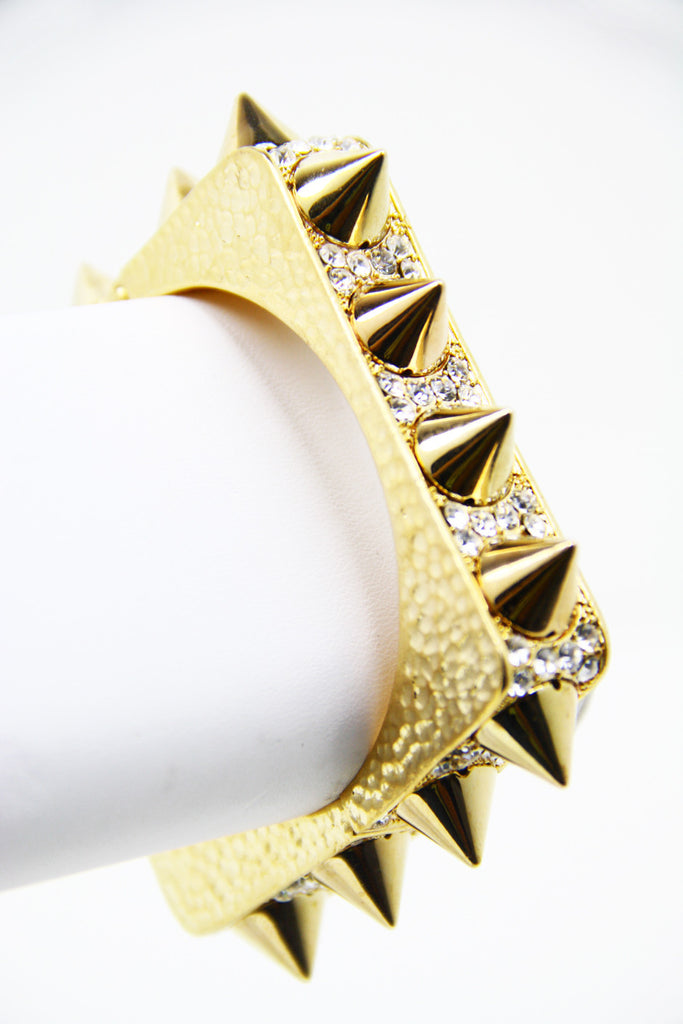 SQUARE SPIKE BRACELET - Gold