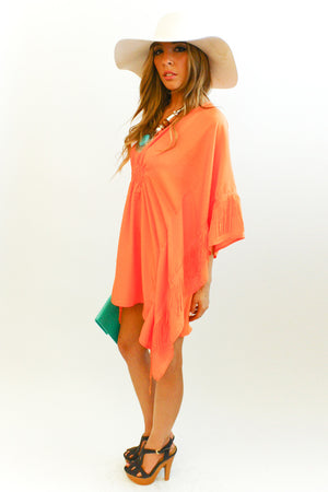 ORANGE FRINGE TUNIC - Haute & Rebellious