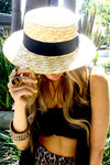 SUMMER BOATER HAT - Haute & Rebellious