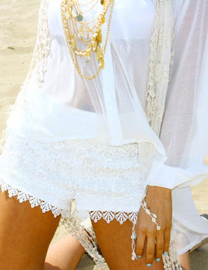 LACE SHORTS - White - Haute & Rebellious