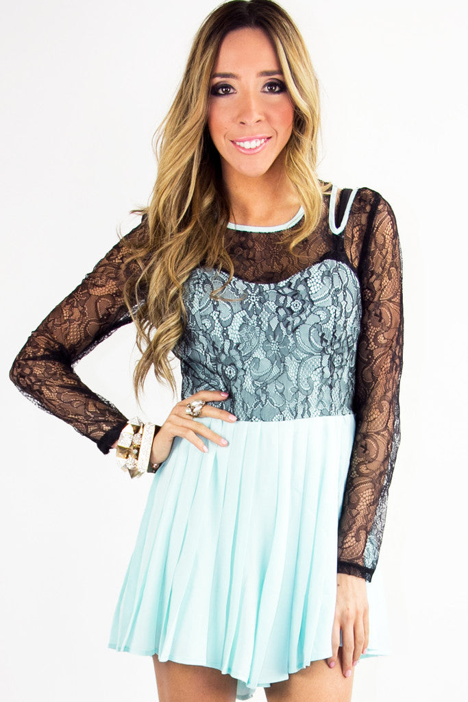 OLIVIA LACE JUMPER - Light Mint