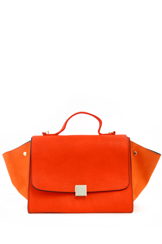 TRAPEZE BAG WITH STRAP - Orange Red