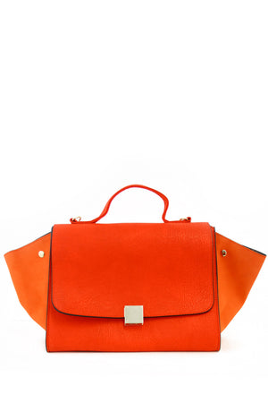 TRAPEZE BAG WITH STRAP - Orange Red - Haute & Rebellious