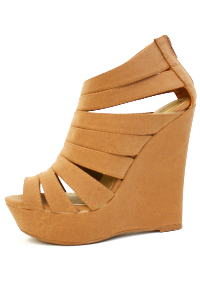 TAUPE WEDGES - Haute & Rebellious