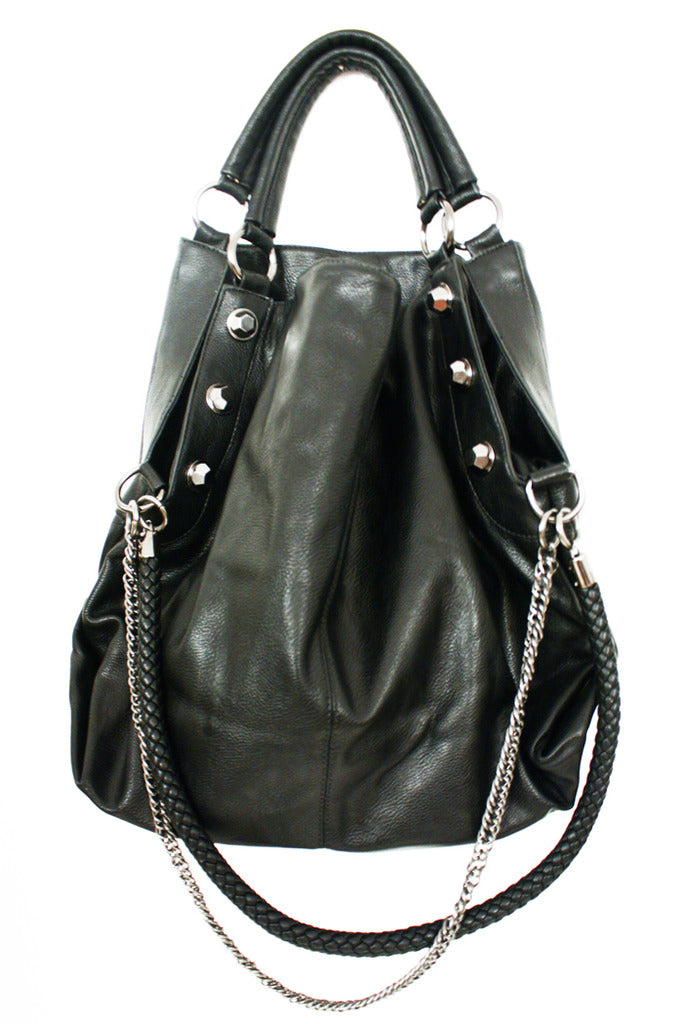 OVERSIZED SILVER CHAIN BAG