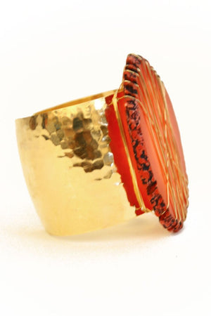 Haute & Rebellious HANNAH CUFF with RED STONE in [option2]