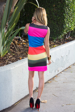 RILEY RAINBOW DRESS - Haute & Rebellious