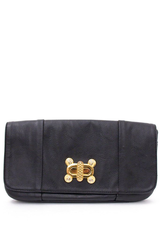 TAYLOR CLUTCH - Black/Gold