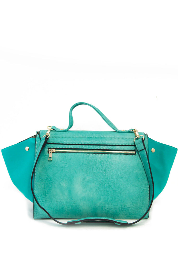 TRAPEZE BAG WITH STRAP - Electric Mint