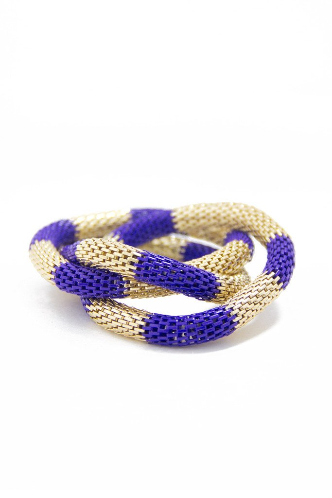 GOLD & BLUE MULTI BRACELET