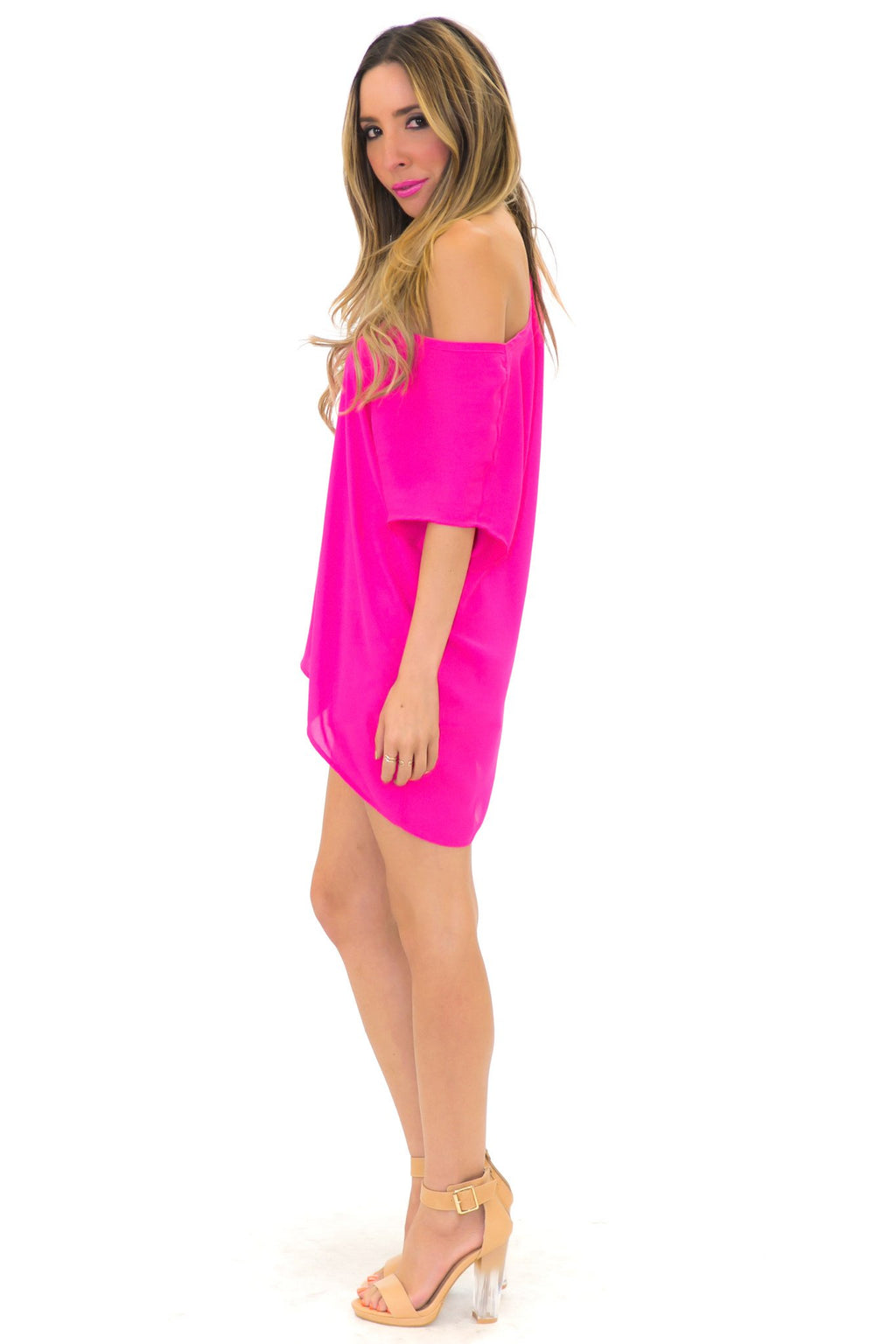 ADELLE BLOUSE - Electric Fuchsia - Haute & Rebellious