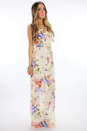 OPEN BACK FLORAL MAXI - Haute & Rebellious