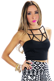 ZOE CUTOUT CROPPED TOP