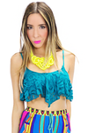 LACE  BANDEAU - Deep Teal - Haute & Rebellious