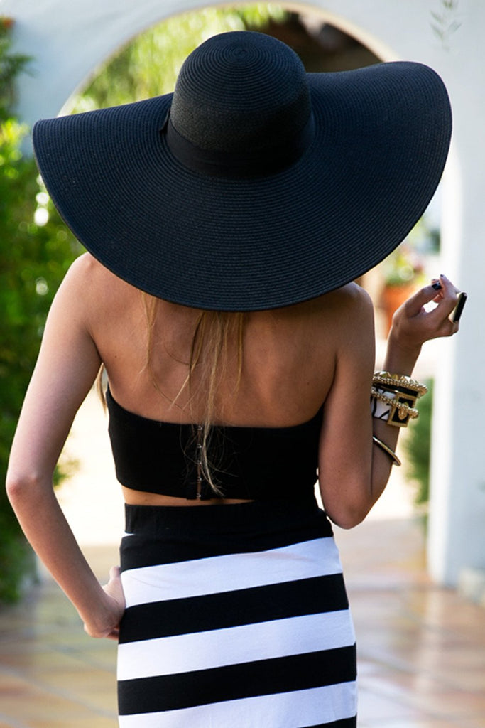 LARGE FLOPPY HAT - Black