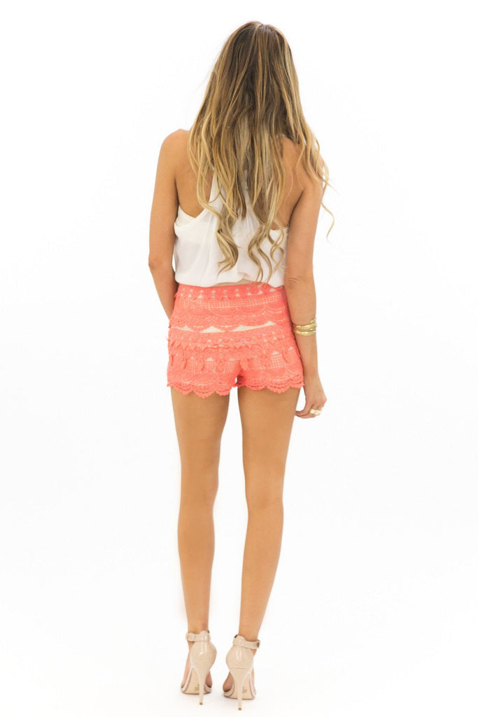 LANA LACE SHORTS - MINT