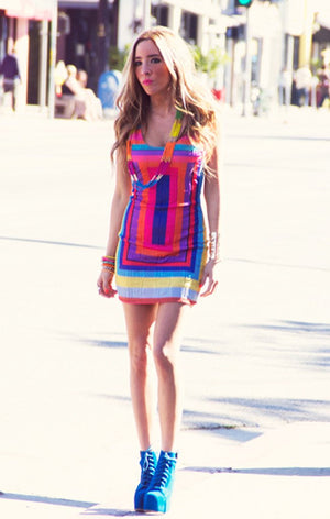 MULTI COLOR DRESS - Haute & Rebellious