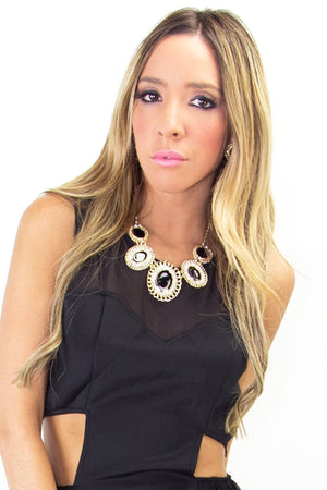 NOEMI NECKLACE - Black/Gold - Haute & Rebellious