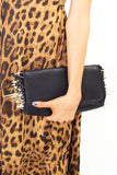 SPIKED CLUTCH - Black