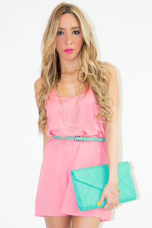 PENNI TUNIC DRESS - Coral - Haute & Rebellious