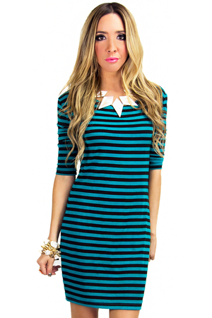 STRIPED JERSEY DRESS - Haute & Rebellious