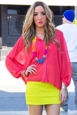 ELECTRIC ORANGE BLOUSE - Haute & Rebellious