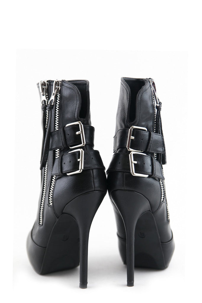 MAISON HIGH ANKLE ZIPPER HEEL - Haute & Rebellious