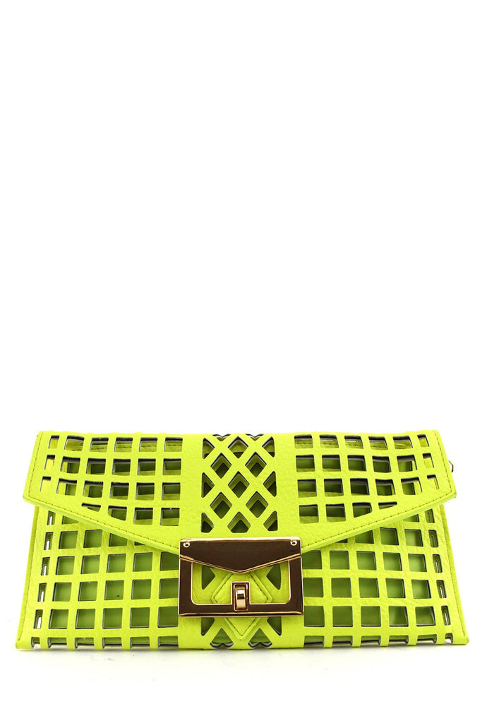 JELA NEON LATTER CROSS CLUTCH