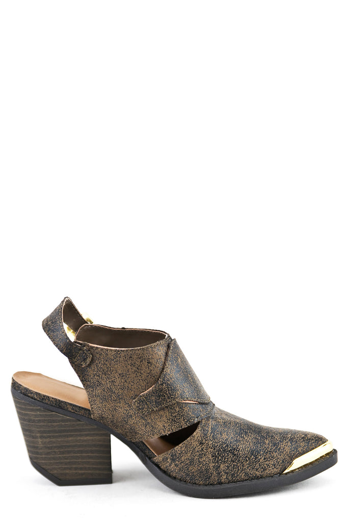 THISTLE CHUNK HEEL BOOT - TAUPE