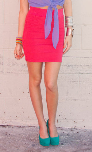 ELECTRIC PEACH SKIRT - Haute & Rebellious