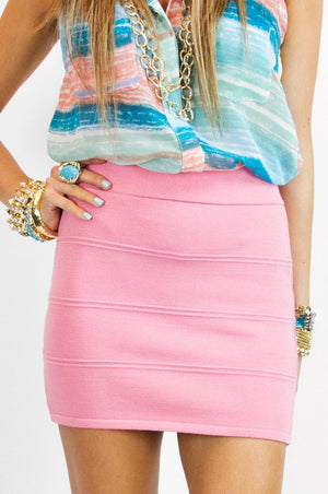 MINI SKIRT - Pale Rose - Haute & Rebellious