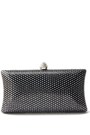 BLACK & SILVER SMALL CLUTCH - Haute & Rebellious