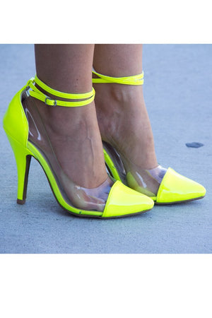 NEON PUMPS WITH CLEAR CONSTRAST - Haute & Rebellious