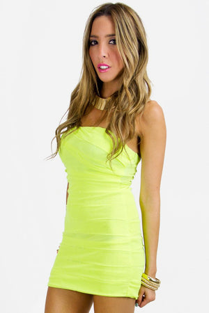 HIGHLIGHTER NEON BODYCON DRESS (FINAL SALE) - Haute & Rebellious