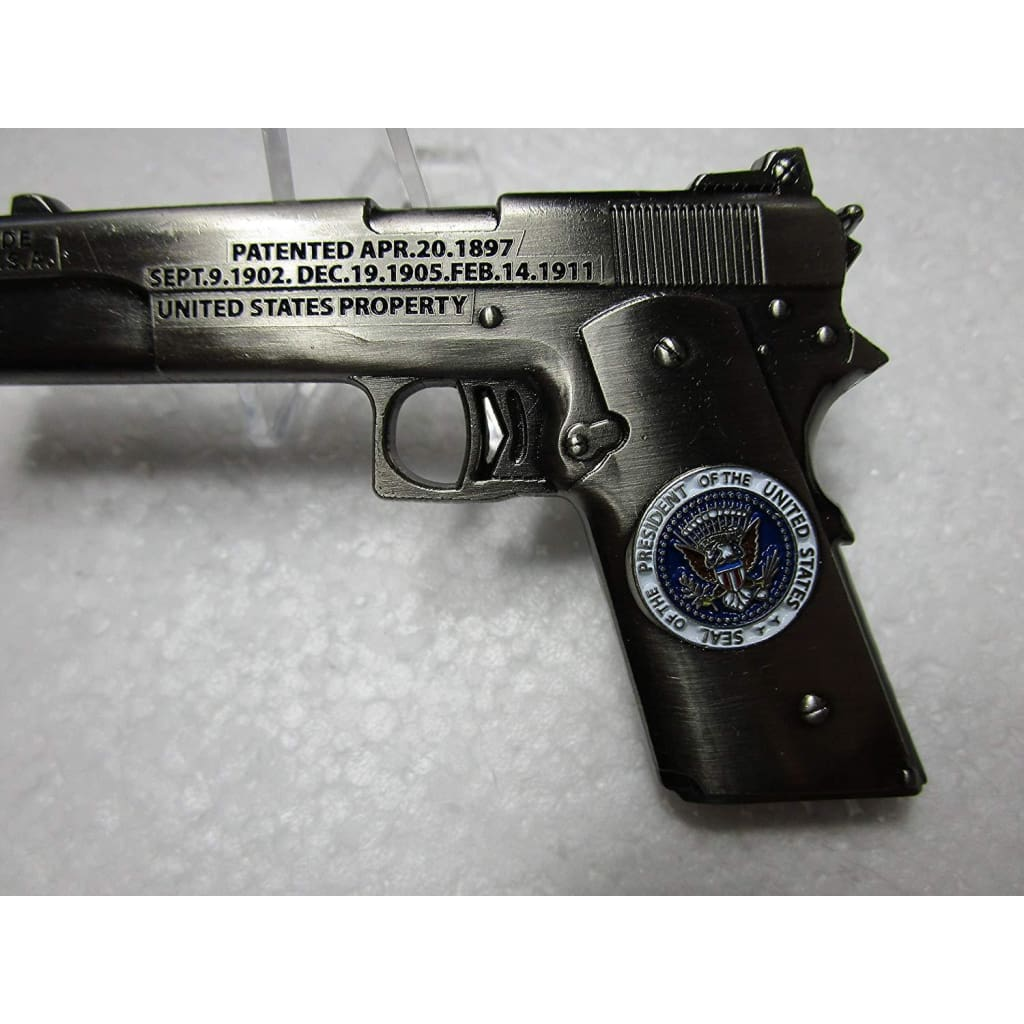 EXTREMELY RARE - President Trump POTUS West Coast Choppers Jesse James  Custom 1911  45 Challenge Coin