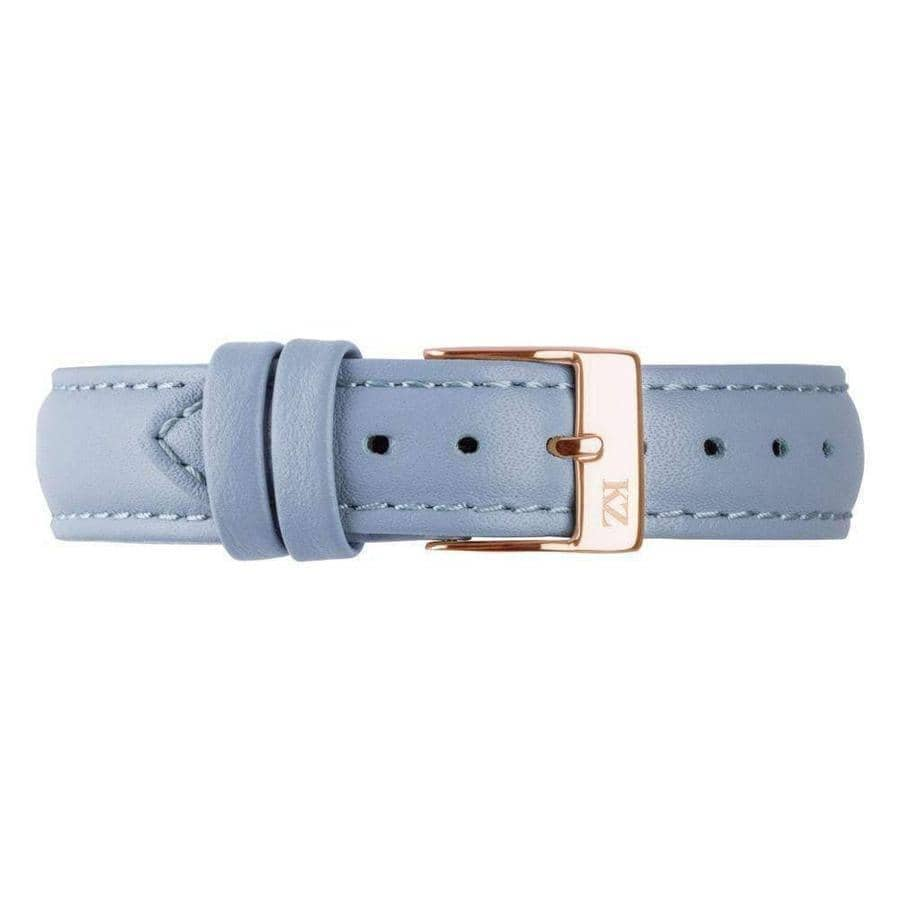 Blue Leather Strap Gold